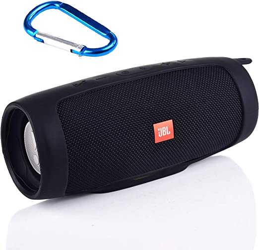 Silicone Case compatible for JBL Charge 4 Portable Waterproof Wireless Bluetooth Speaker Black