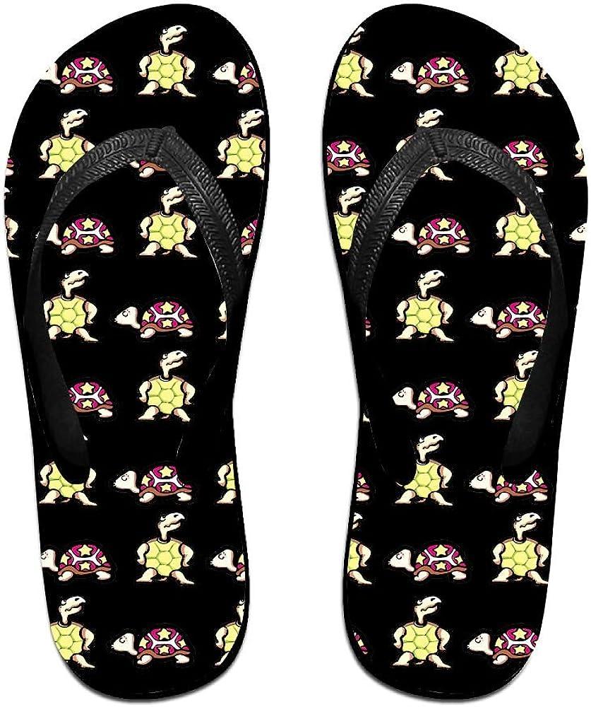 Z-YY Green Turtle Womens Mens Lightweight Flip Flops Beach Slippers Shower Sandal
