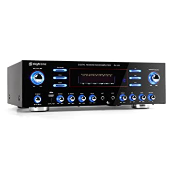 Skytronic AV-340 Amplificador Karaoke 5 Canales USB MP3