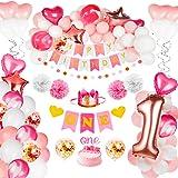 Amazon.com: Decoración para el primer cumpleaños del bebé y ...