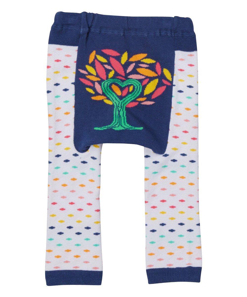 X Small Doodle Pants White Multi-Colored Tree Leggings