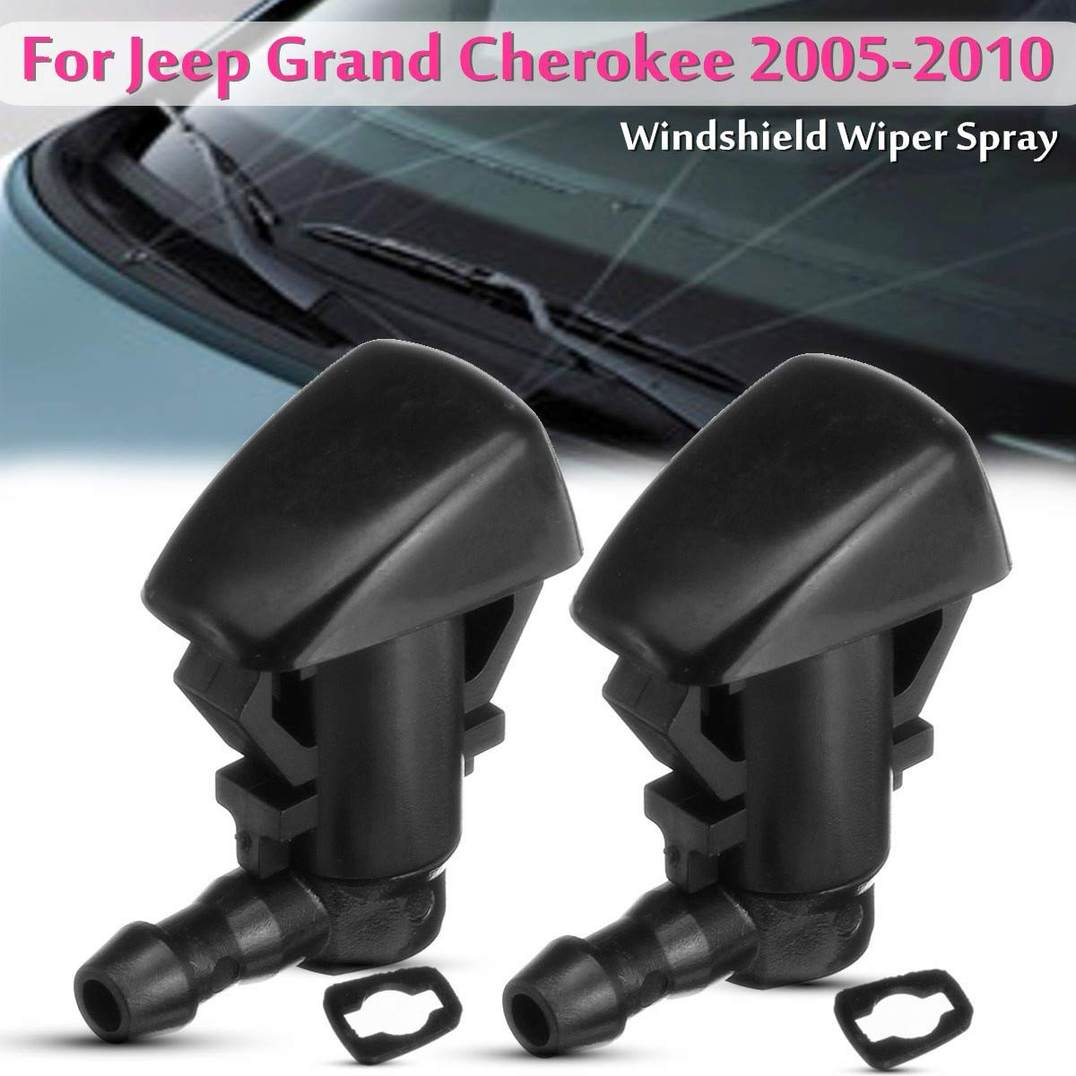 Automobiles & Motorcycles 2Pcs Car Front Windshield Wiper Water Spray Jet Washer Nozzle for Jeep Grand Cherokee 2005-2010 55372143-AB Occus