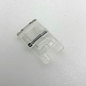 DREAMSTITCH 7mm Clear Satin Stitch Presser Foot for All Low Shank Snap-On Brother,Babylock,Singer,Euro-Pro,Janome (New Home),Kenmore,White,Juki,Simplicity,Elna Sewing Machine