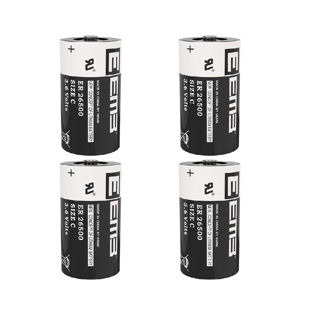 EEMB 3.6 V C Size Lithium Battery Cell ER26500 Li-SOCl2 9000 mAh Lithium Thionyl Chloride Battery UL Certified High Capacity