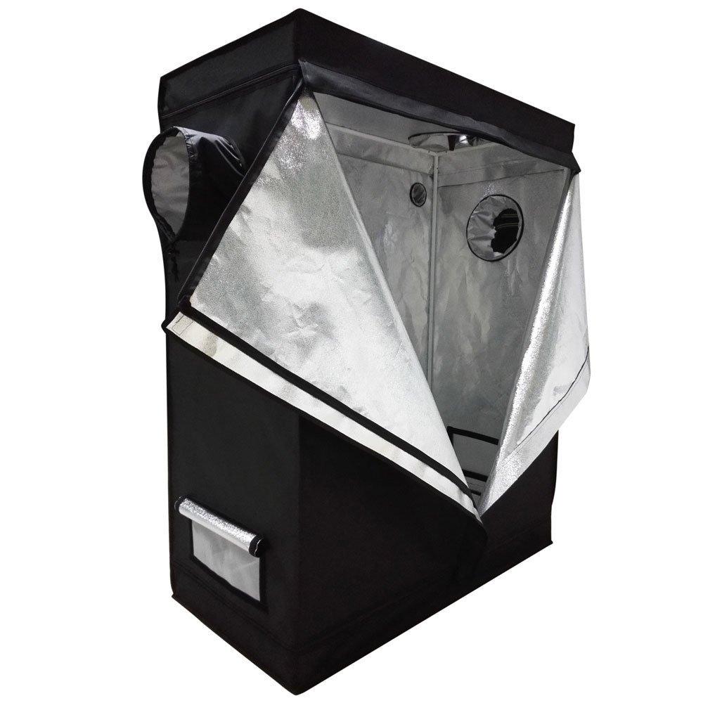 Oshion 4x2x5 Feet Small Indoor Mylar Hydroponics Grow Tent Room (48''x 24''x 60'')