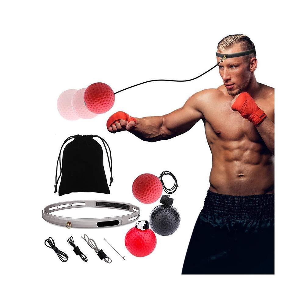 ZPALLASD 2019ボクシングパンチ運動ファイトボールとヘッドバンドと反射速度ボクシングトレーニング   B07RNBDKFC