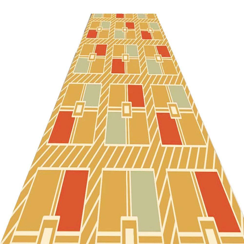 A LYQZ Couloir escalier Tapis Salon Salle de séjour et Tapis d'entrée, Magasin Complet Porche allée Peut être personnalisé (Couleur   A, Taille   0.8  3m) 1.29m