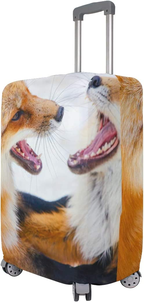 FOLPPLY Funny Animal Dog Luggage Cover Baggage Suitcase Travel Protector Fit for 18-32 Inch