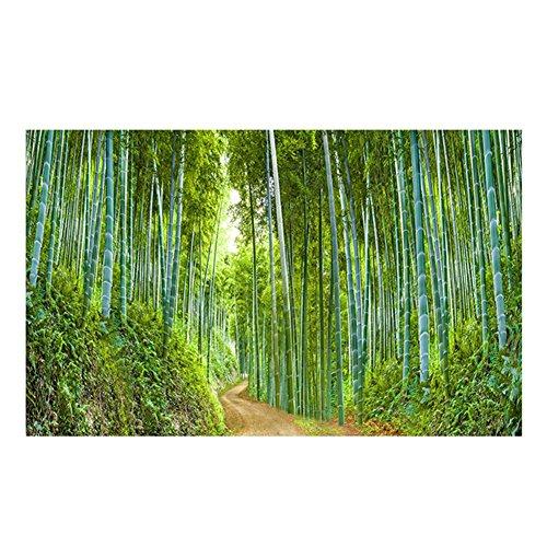 Impresión digital por un solo lado 61 * 30 cm/91 * 50 cm acuario pecera de fondo pintura decorativa PVC espesado bosque de bambú escena viva yg011307 ...