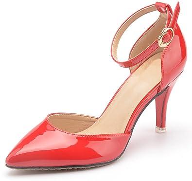CAMSSOO Damen Elegant, Rot - Rot - Größe: 41