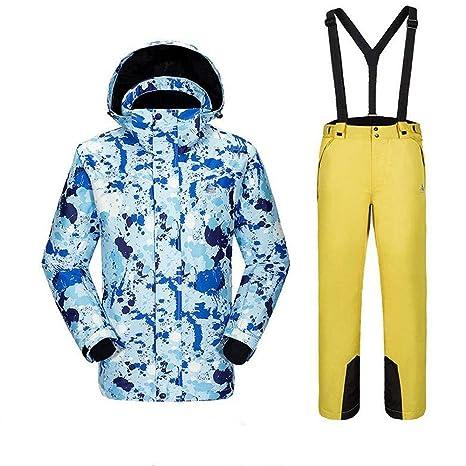 QZHE Traje de esqui Chaqueta Y Pantalones Impermeables ...