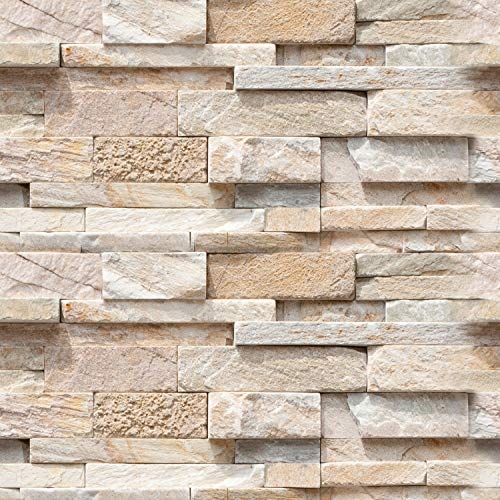 Stone Faux Furniture (artgeist Wallpaper Faux Stone 3D Peel and Stick Self-Adhesive Decorative Foil Wall Mural Removable)