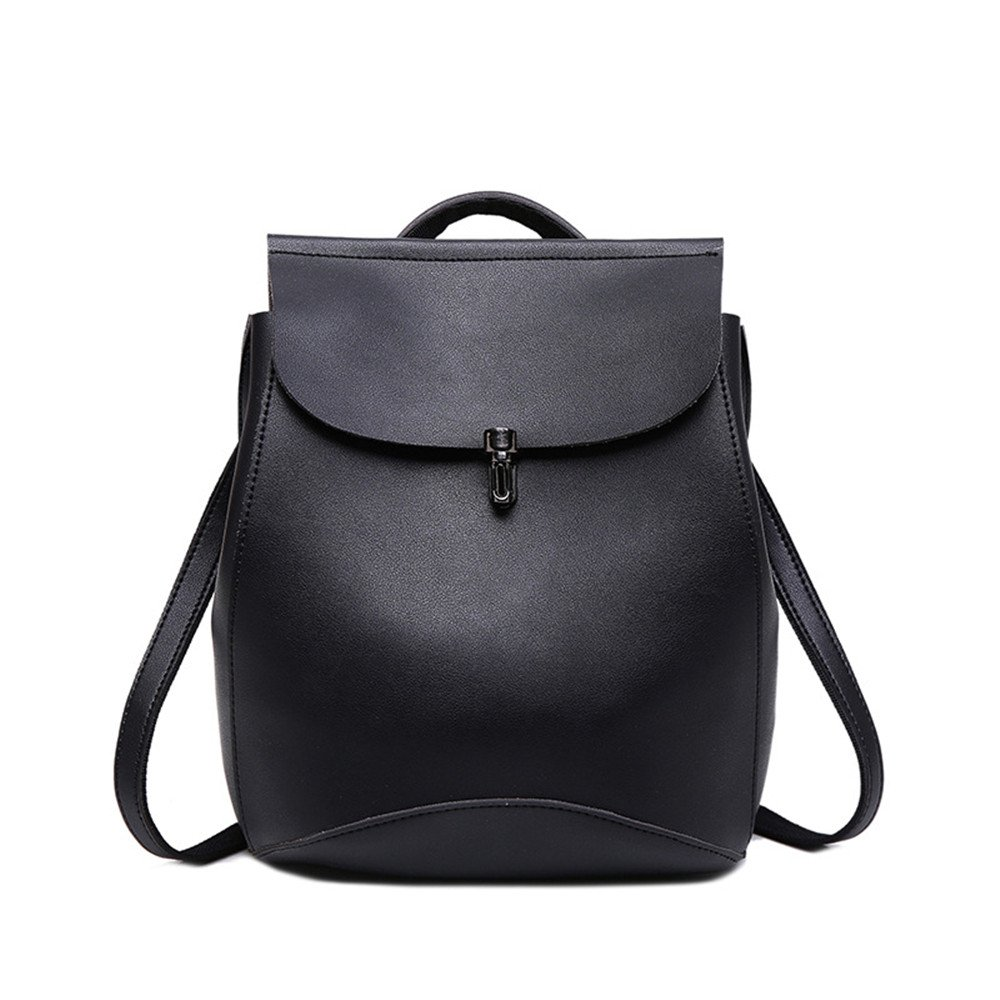 SJMMBB Student Backpack Fashion And Leisure Double Shoulder Bag,Black,27X23X16Cm