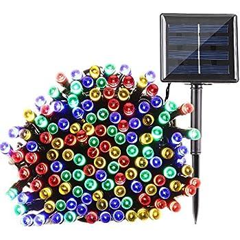 Amazoncom Christmas Solar String Lights Outdoor Patio