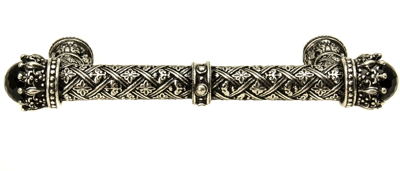 Pull with Semi-Precious Stone 4-Inch Carpe Diem Hardware 6911-9Ox Crowning Glory King George O.C