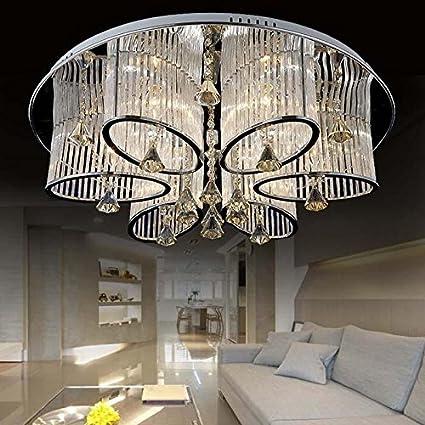 LEDVAS Modern Luxury Living Room Ceiling Lamp Fixture Crystal Chandelier  Lighting (68CM(26.7IN