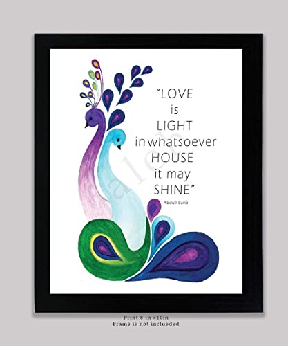 Amazoncom Bahai Quotelove Is Light In Whatsoever House It May