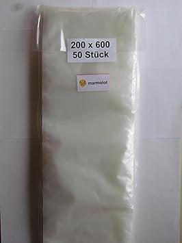 Bolsas envasado al vacío, 500 bolsas 20x60cm, gofrada, Para envasadoras de vacio domésticas de todo tipo