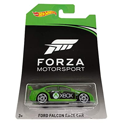HOT WHEELS FORZA MOTORSPORT XBOX GREEN FORD FALCON RACE CAR: Toys & Games