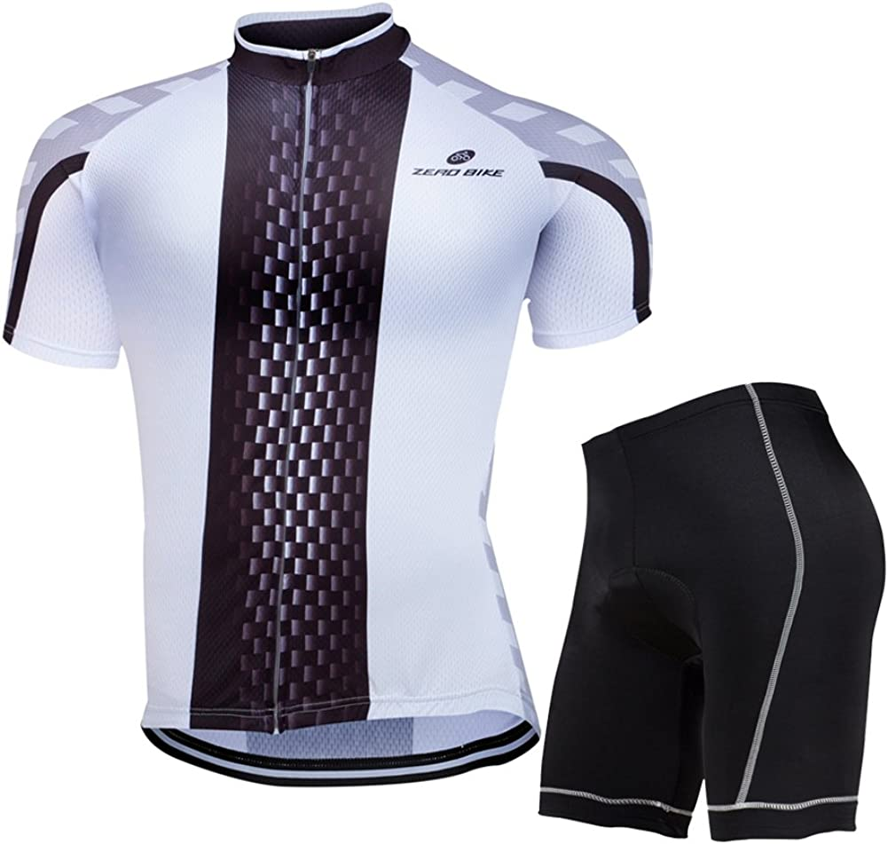 2020 H0T8T Herren Fahrrad kurzärmeliges Jersey Lätzchen Shorts Set Rad Wear He