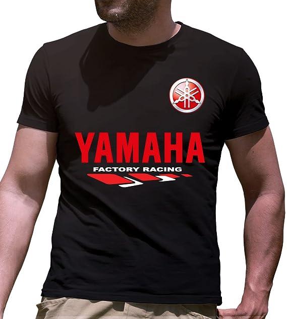 95ff57936c Print & Design T-Shirt Maglietta Yamaha Nera Personalizzata