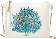 Anysell88 All, DIY Peafowl Special Shaped Diamond Painting Leather Chain Crossbody Bags