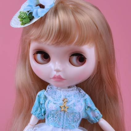 1//6 BJD Doll is Similar to Neo Blythe 12 Inch Customized Dolls with Five Hands Nude Doll Sold Exclude Clothes YM15 4-Color Changing Eyes Shiny Face and Ball Jointed Body Dolls