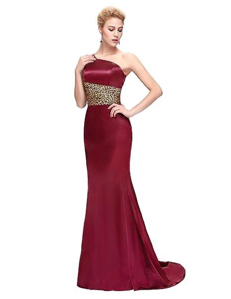 Ever Pretty, Grace Karin Quissmoda vestido fiesta largo boda, color azul o rojo,