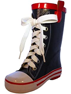 Amazon.com | BengC RW060 Sneaker Style High Top Women's Rubber ...