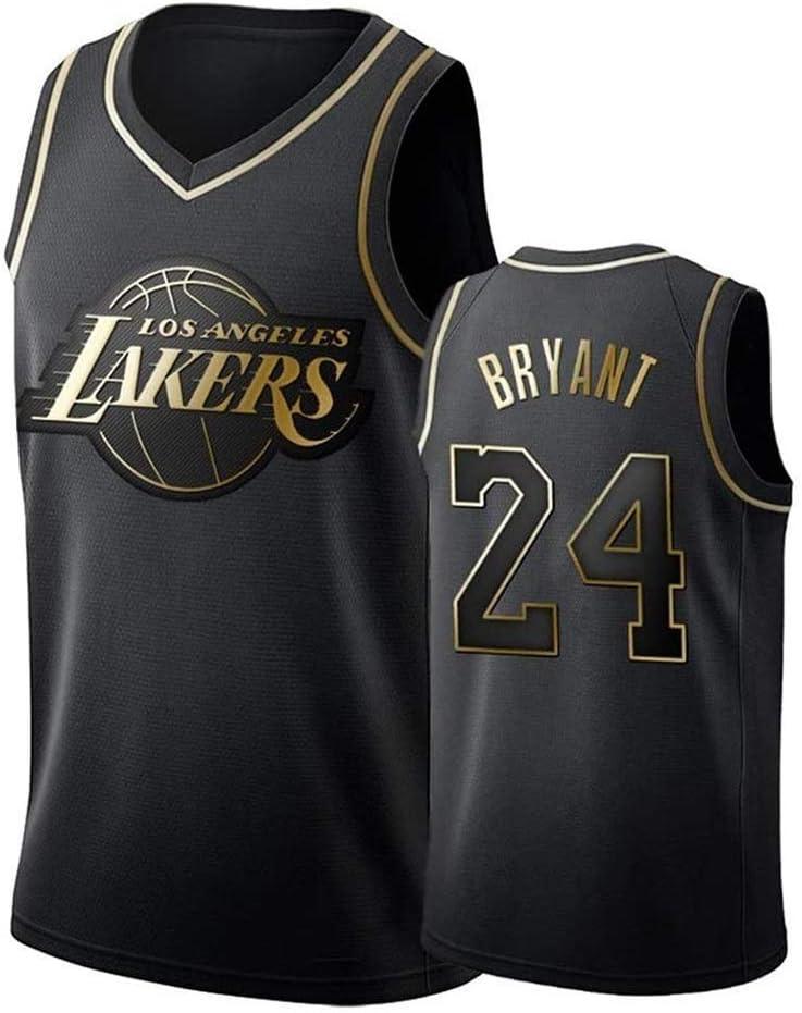 Jersey Baloncesto Kobe Bryant Nº 24 Jersey, Camiseta De Los Lakers Sudadera Camiseta del Verano Apretado Bordado Tamaño Estándar S-XXL: Amazon.es: Deportes y aire libre