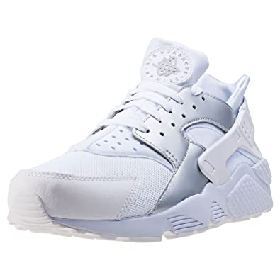 huge selection of 6234b d8074 Nike Air Huarache Mens Style   318429-108 Size   8.5 White Metallic Silver