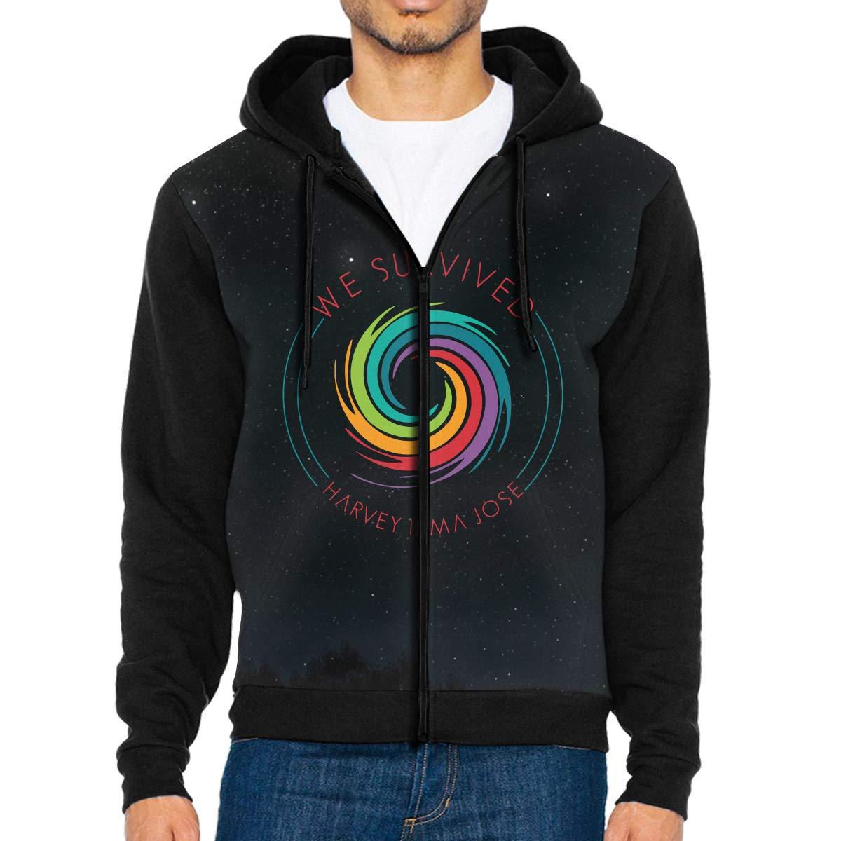 We Survived Hurricane Mens Full-Zip Hoodie Jacket Pullover Sweatshirt