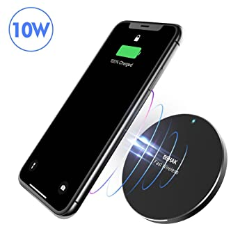 Cargador inalámbrico 10W para iPhone 8/8 Plus/X y Samsung ...