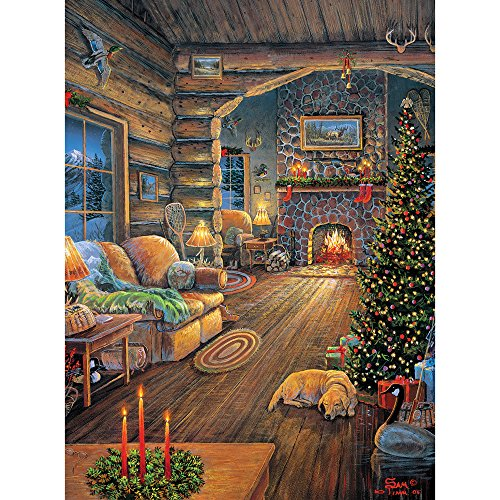 Bits and Pieces - 300 Large Piece Jigsaw Puzzle for Adults - Total Comfort - 300 pc Christmas, Holiday Jigsaw by Artist Sam Timm