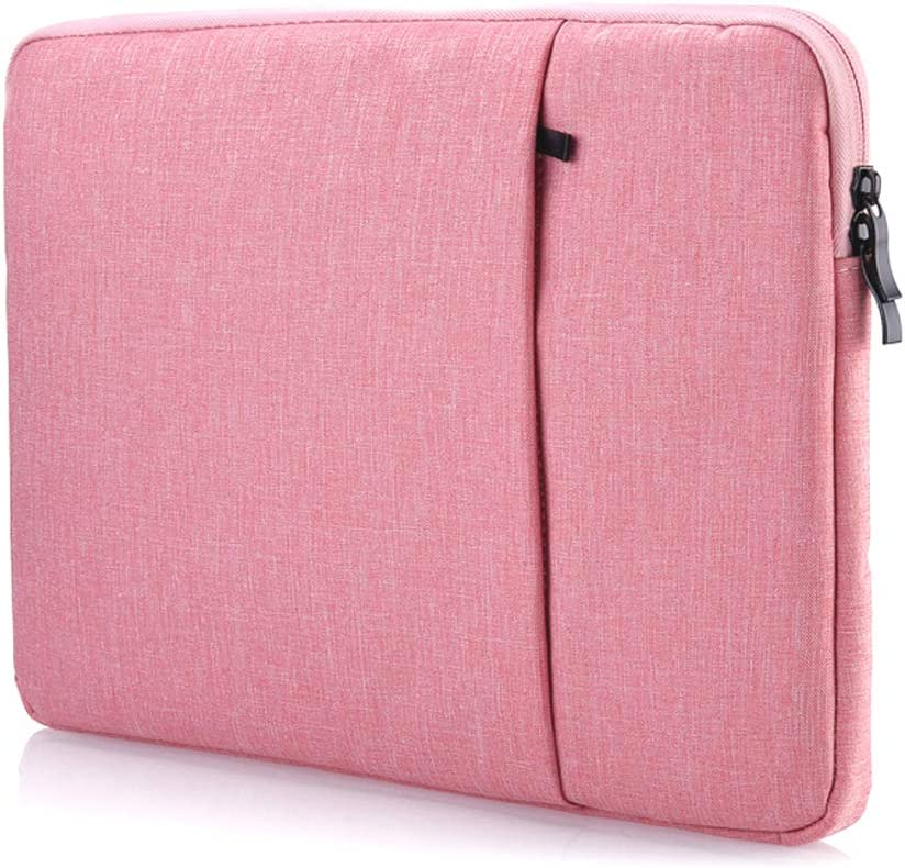 "ProElife 12-12.3 Inch Sleeve Case Cover Canvas Laptop Tablet Protective Bag for Apple MacBook Air 11.6""/Retina 12"" and 12.3"" Microsoft Surface Pro 4/5/6 (2018 Released) (Pink)"