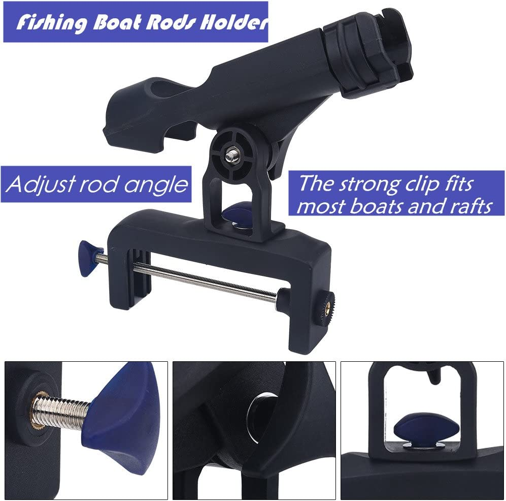 GMtes 360/° einstellbare Angelrute Rack Halter Klemme auf abnehmbare Kajak Boot Unterst/ützung Pole Stand Halterung