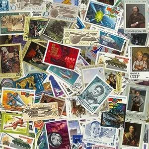 Colección de Sellos de la URSS, Gran Formato, obliterados, 100 ejemplares: Amazon.es: Juguetes y juegos