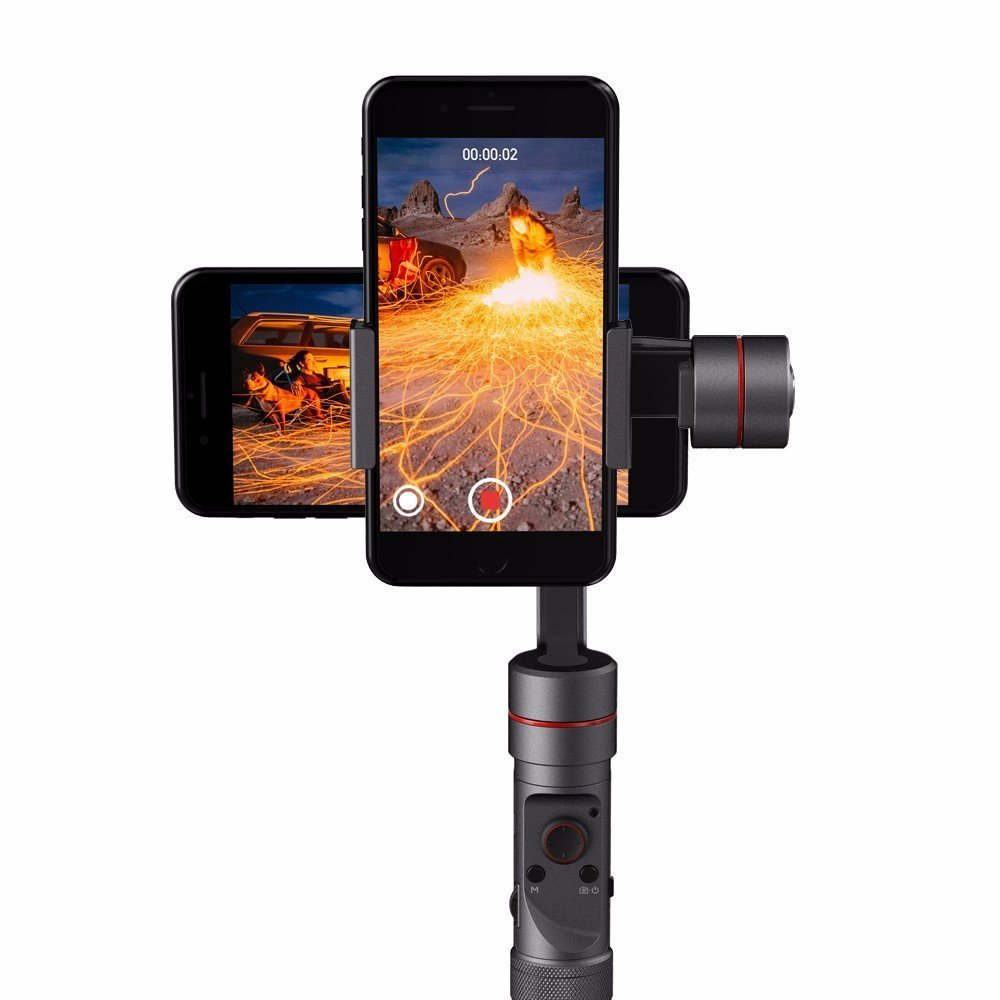 Zhiyun Smooth 4 3-axis Phone Handheld Gimbal Stabilizer for iPhone X 8 8 Plus 7 7 Plus Samsung Galaxy S9 S9+ S8 S8+ Note 8-in Black