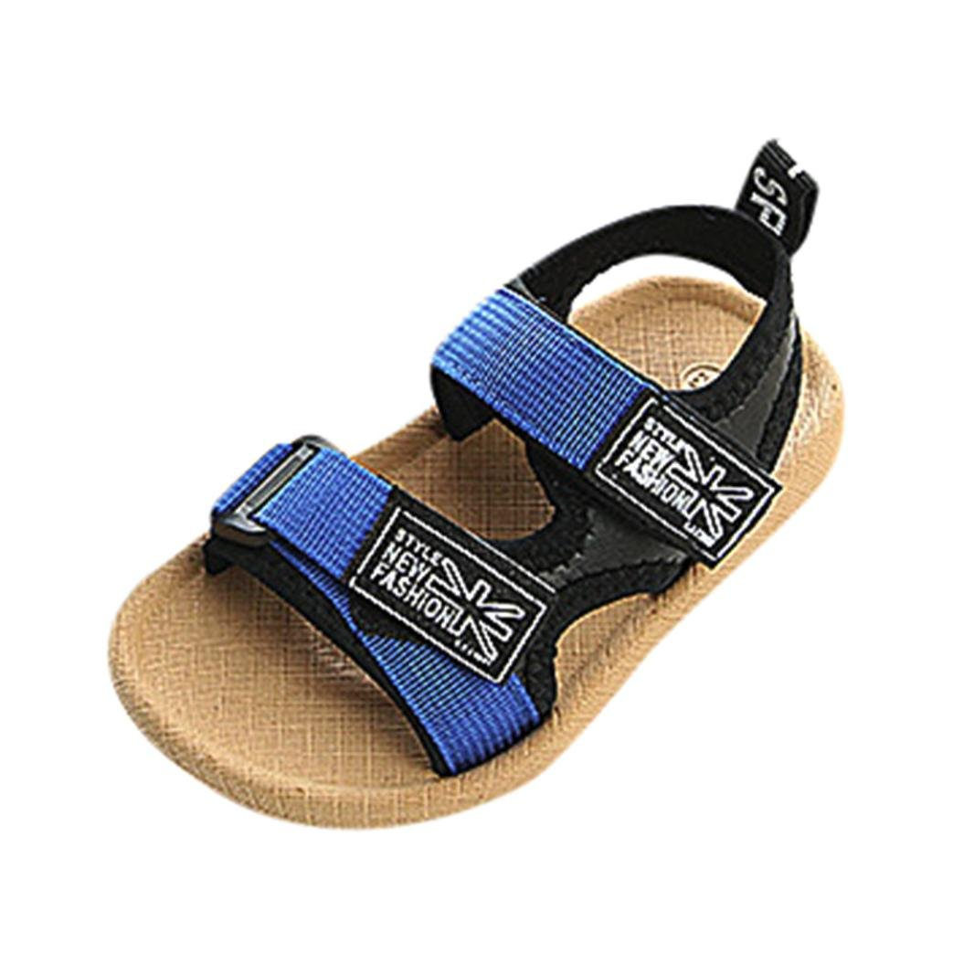 KONFA Toddler Baby Boys Open-Toe Beach Patchwork Sandals,for 1.5-4 Years old,Summer Casual Hook/&Loop Flat Shoes