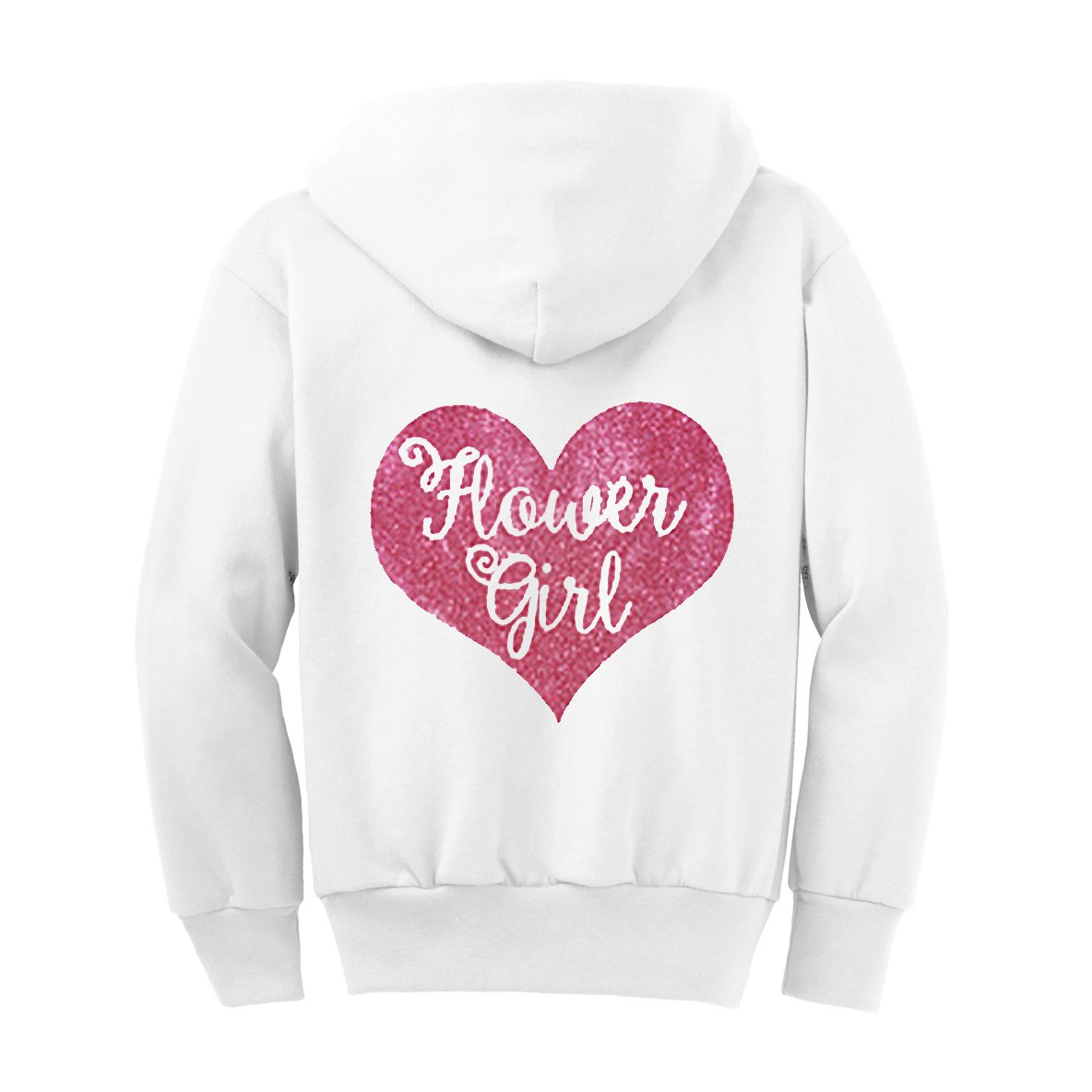 Flower Girl Glitter Hoodie - White and Pink (6)