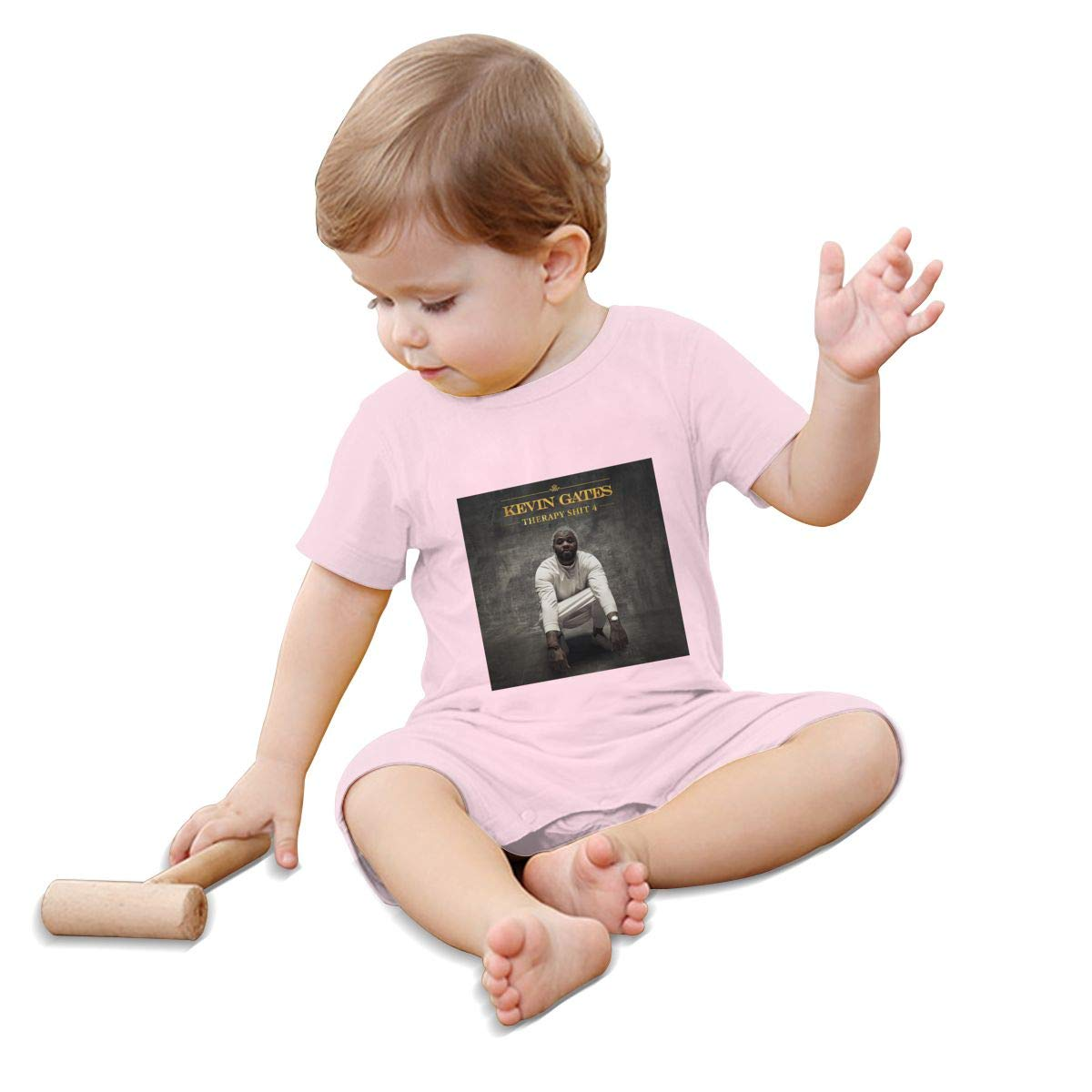 RhteGui Kevin Gates Rompers Solid Infant Short Sleeve Pajamas Unisex Cotton Summer for 0-24 Months
