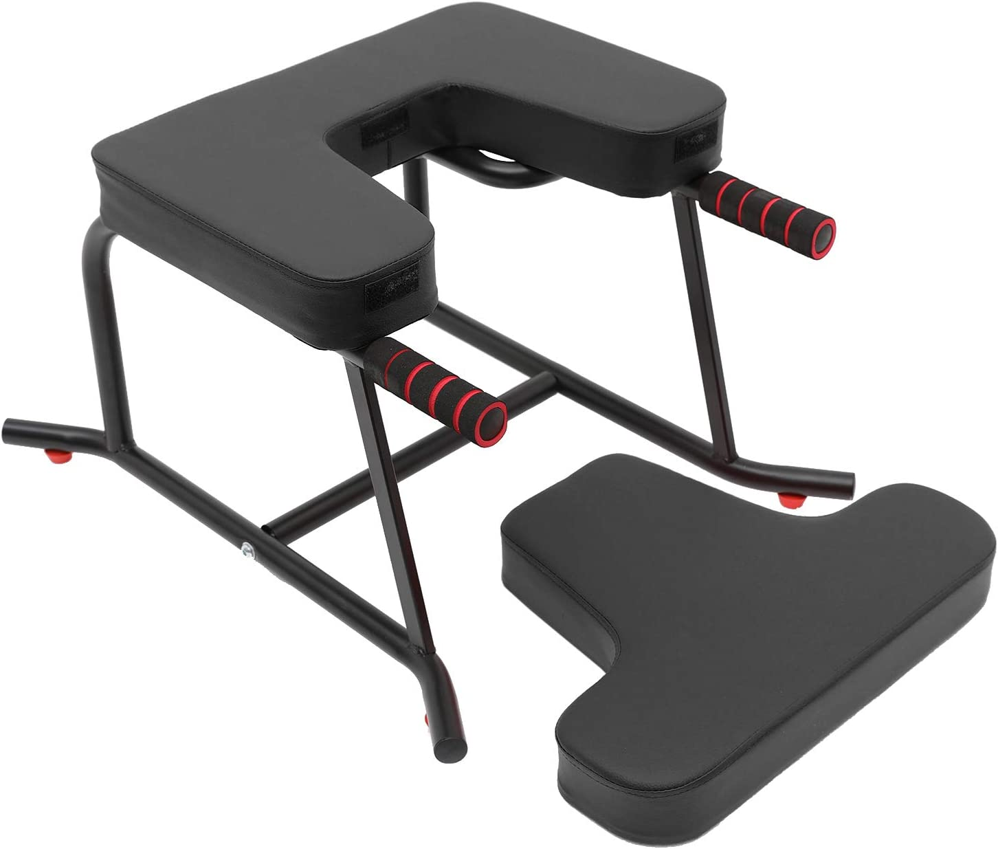 for Practice Head Stand Shoulderstand C//N Yoga Headstand Bench Stand Yoga Inversion Bench with PU Cushion and Handrail Handstand