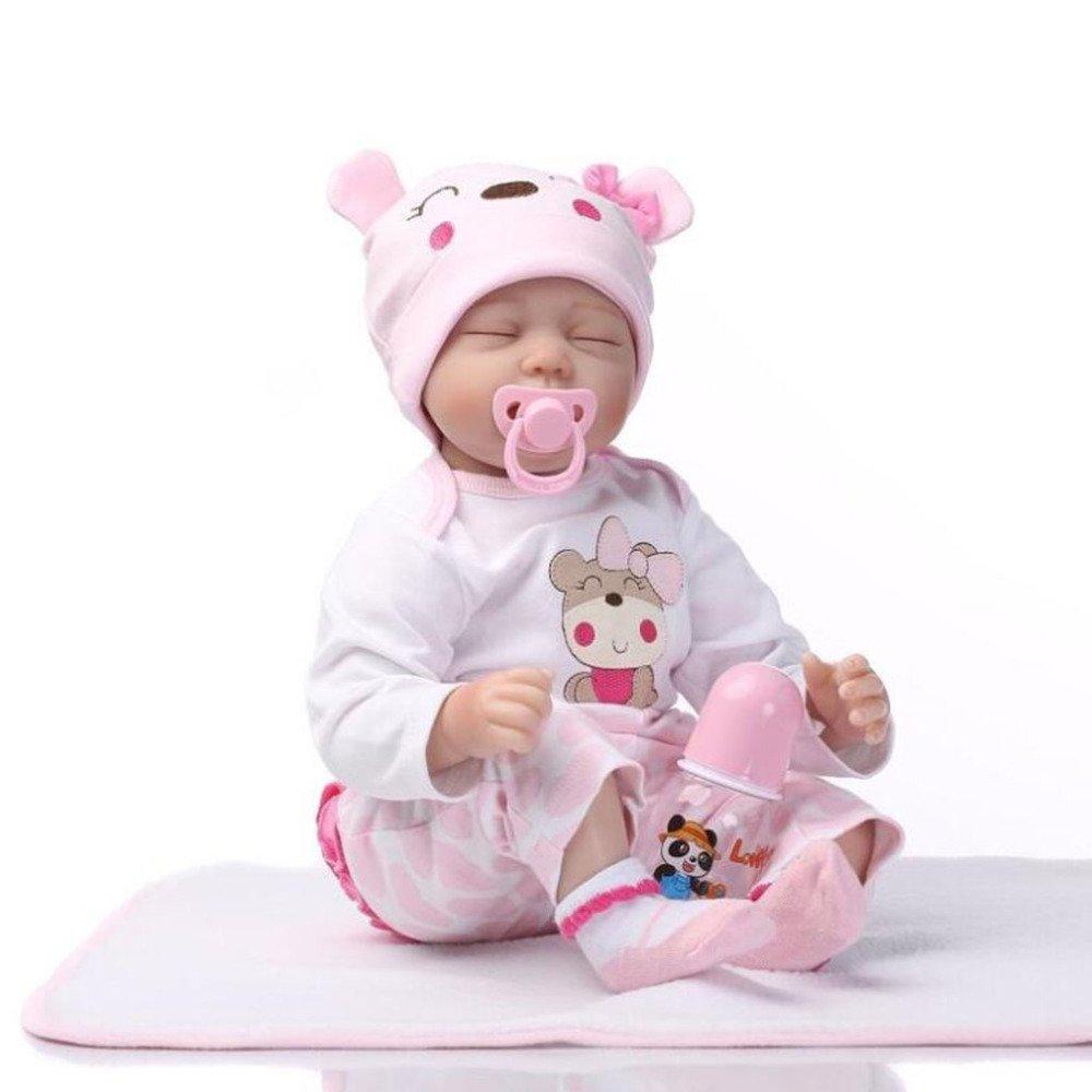 YIHANGG Simulation Baby Reborn Puppe Voll Weiches Gel Das Baby Trösten Spielzeug Wachsen Partner Spielzeug Mädchen Lieblingsgeschenke Spielen