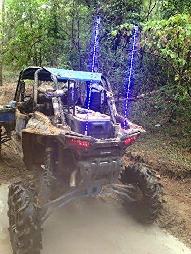SINGLE 2ft quick disconnect BLUE LED light whip SXS ATV UTV 4 wheeler RZR TERYX