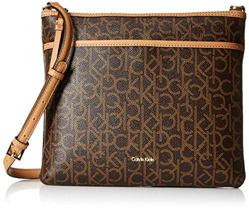 Calvin Klein Hudson Signature Top Zip Crossbody Flat Pack, B