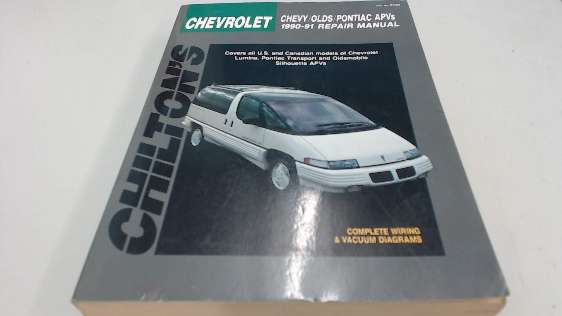 general motors: lumina/sihouette/trans sport apvs 1990-91 (chilton's total  car care repair manuals) paperback – january 20, 1998