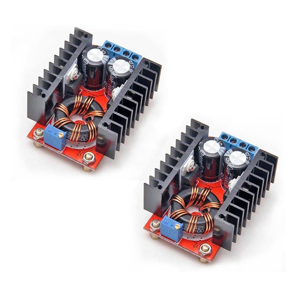 Gowoops 2pcs 150w Dc 10 32v To 12 35v Step Up Boost Related Circuits Converter 24v Or 12v 10v Using Module Adjustable Power Voltage Electronics