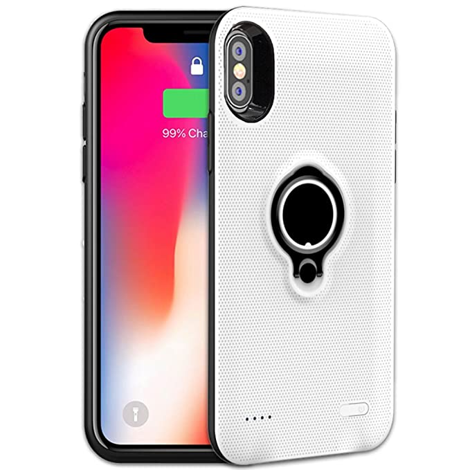 new arrivals d2f64 4bcf7 Veepax iPhone X Battery Case Premium 5000mAh Portable Charging Case for  Apple iPhone X/10 Rechargeable Extended Battery Pack with Car Holder Magnet  ...