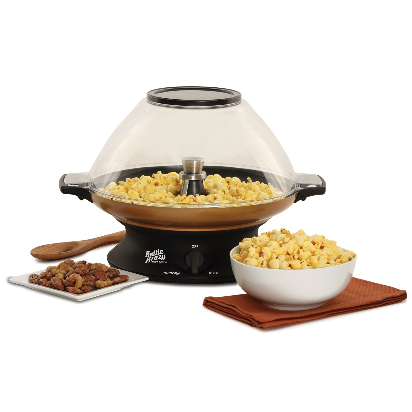 West Bend 82386 Kettle Krazy Popcorn Popper and Nut Roaster (Discontinued by Manufacturer)