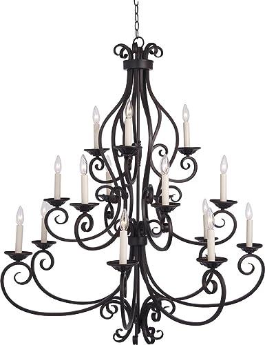 Amazon.com: Chandeliers - Lámpara de techo con 15 bombillas ...